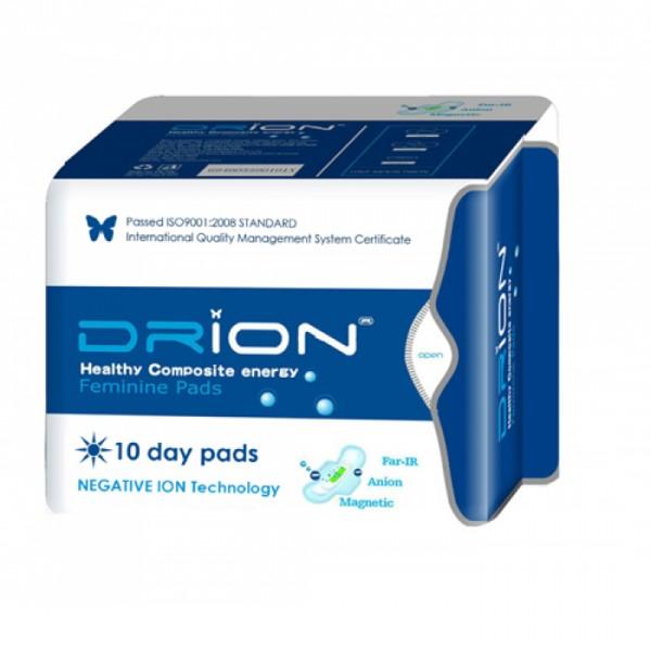 Assorbenti Giorno con ali Drion - cotone biologico e tecnologia a ioni negativi