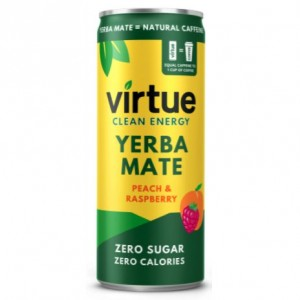 Natural energy Virtue - yerba mate - pesca - 12 lattine